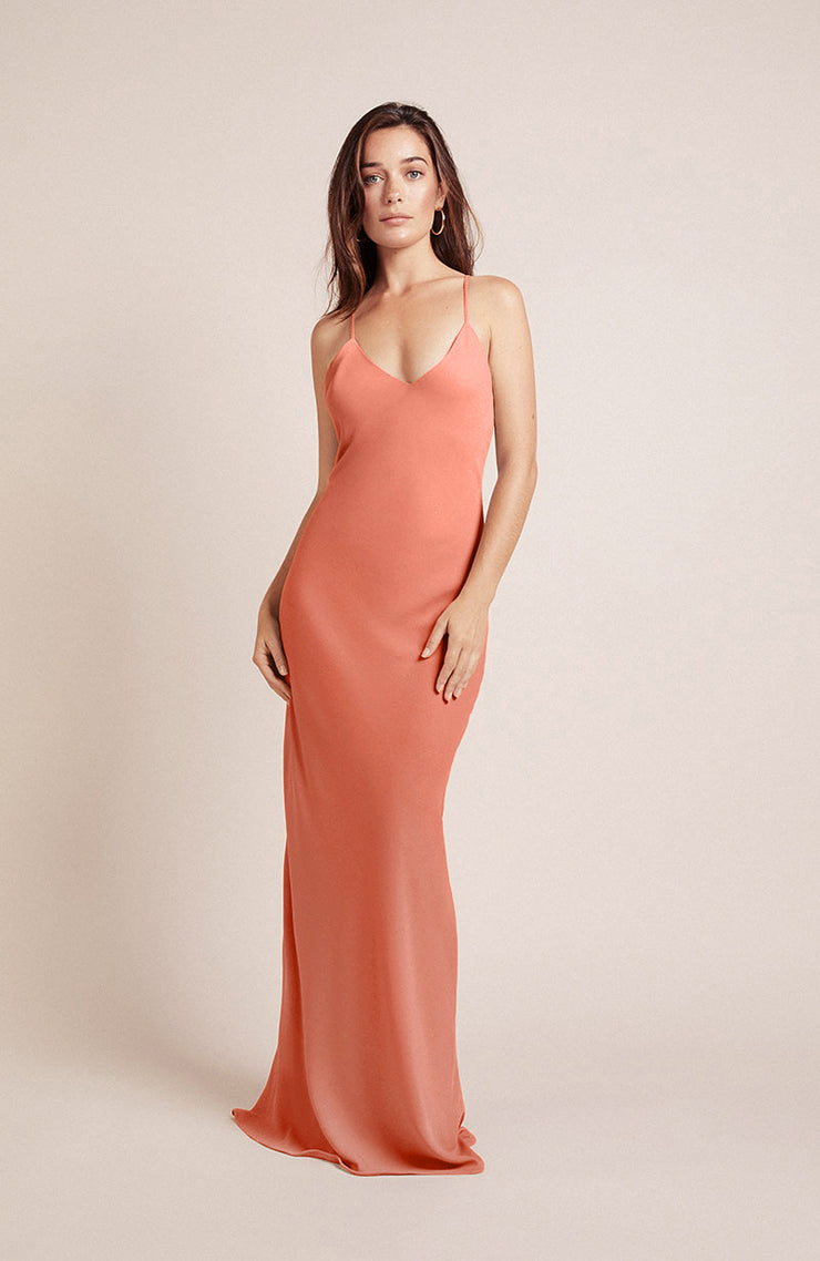 Brooklyn Dress in Coral