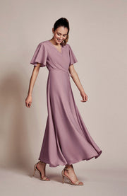 Florence bridesmaids dress in heather by Rewritten