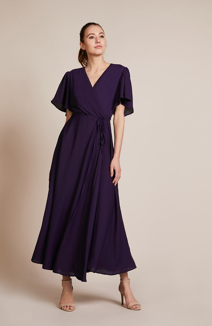 Florence Dress in Blackcurrant