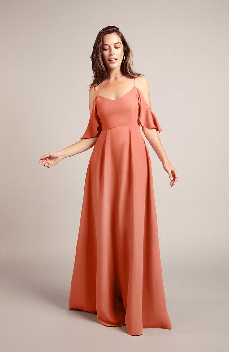 Mykonos Dress in Coral