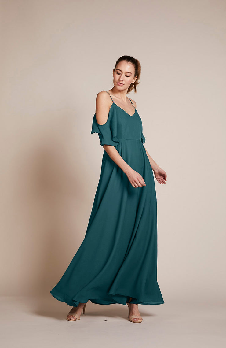 Mykonos Dress in Forest