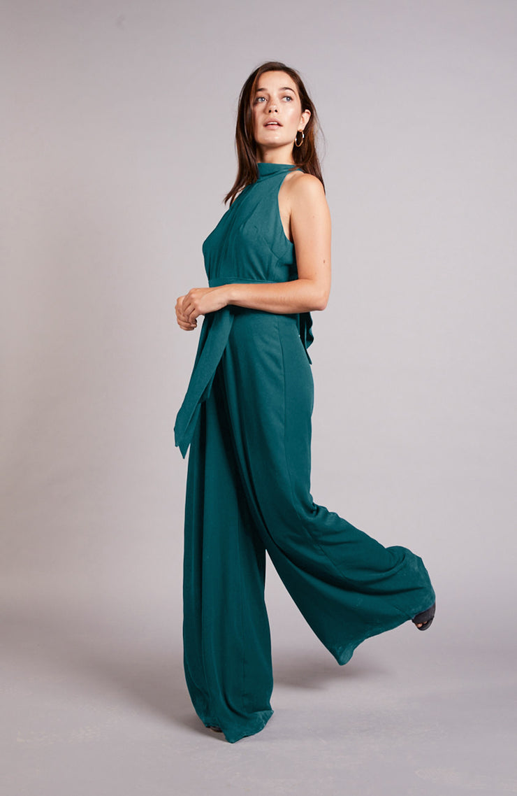 Soho jumpsuit bridesmaids wedding forest green