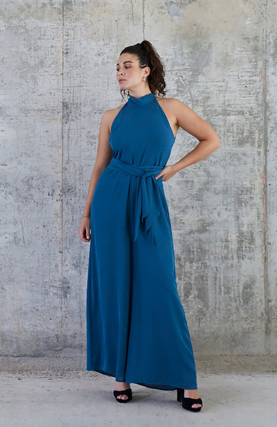 Soho jumpsuit for weddings party teal