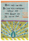 Wild, Courageous, Brilliant Self Empowerment Card