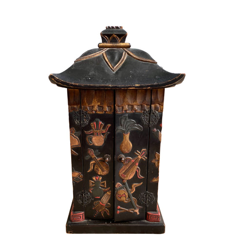 Japanese Meiji Period Pagoda Form Small Cabinet