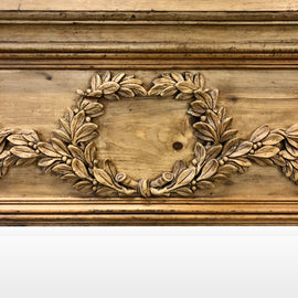 Continental Carved Pine Pier Mirror 19th Century