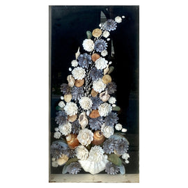 19th C. Victorian Sea Shell Tree Shadow Box