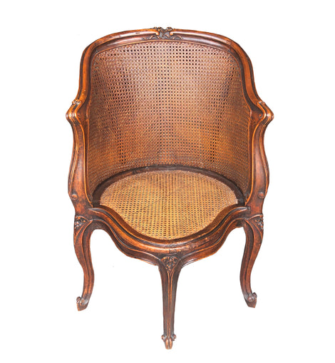 French French Louis XV Style Carved Walnut Chair
