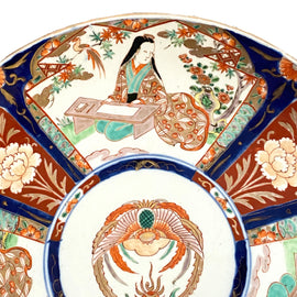 Large Meiji Period Japanese Imari Porcelain Charger