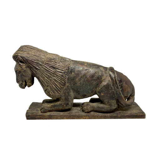 Carved Wooden Folk Art  Lion, Possibly North Carolina c. 1850