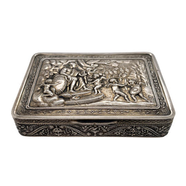 19th C. Ornate Russian Silver Box  by P. Muller 1828