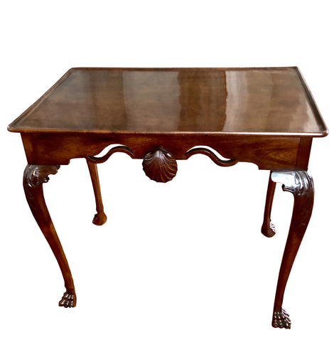 18th Century Irish George II Period Mahogany Silver Table 1760