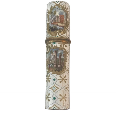 18th Century French Enamel Needle Case Etui