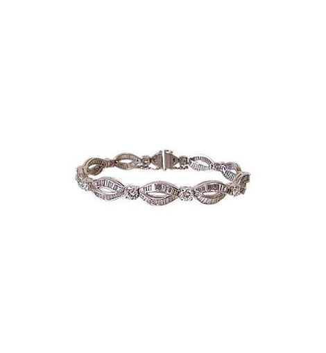 Custom Made Platinum and Diamond Lady's Bracelet