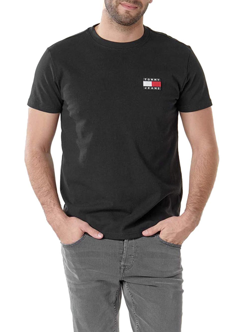 T-shirt DM0DM06595 TJM TOMMY BADGE Nero