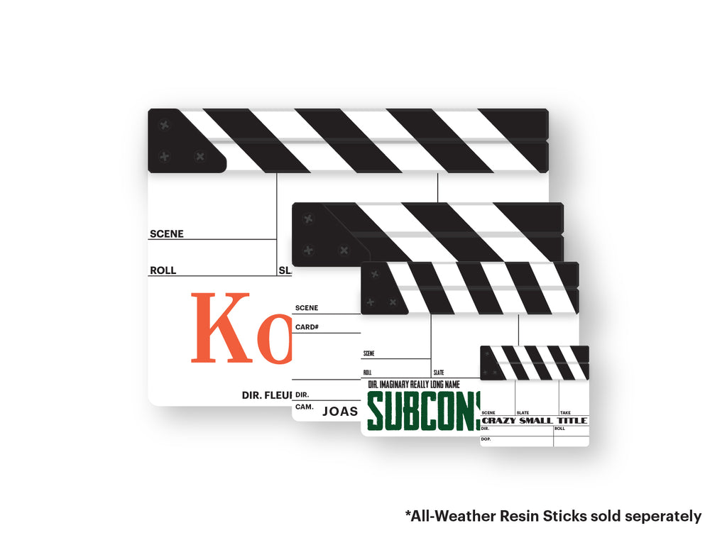 Clapperboard (Custom Engraved)