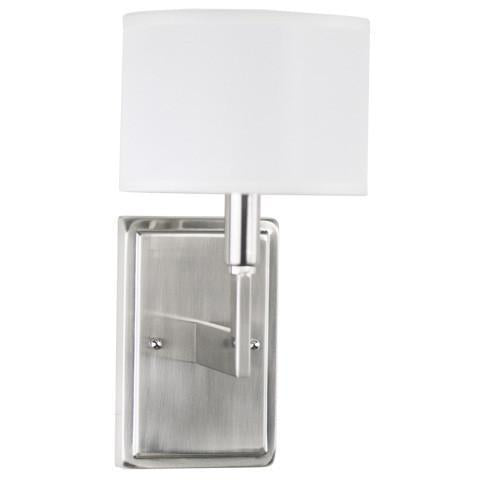 Allegro Wall Sconce w/ White Linen Shade