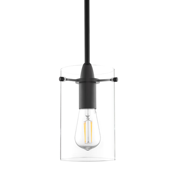 Black Effimero large Glass pendant lighting with no visible wiring, ideal for dining rooms and kitchens
