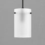 Effimero Medium Pendant Light, Frosted Glass