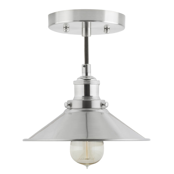 Andante Industrial Factory Pendant Light w/Metal Shade