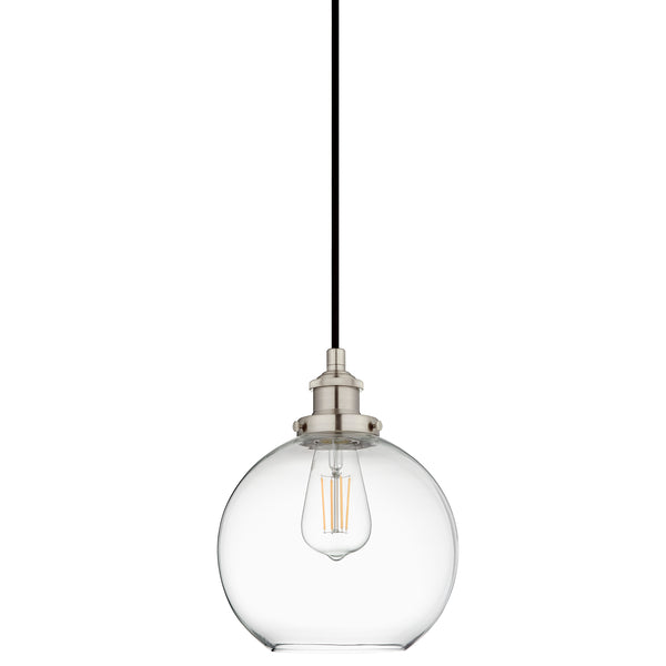 Primo Industrial Factory Pendant Light w/Glass Shade, LED bulb included