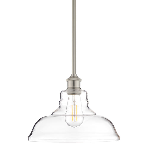 Lucera Industrial Stem Hung Pendant Light, LED bulb included
