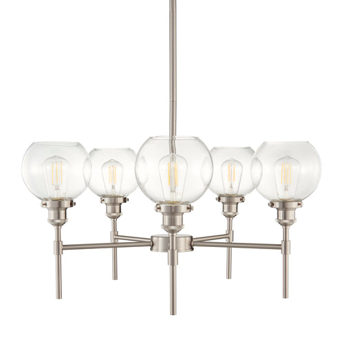 Primo 5 Light Industrial Hanging Chandelier