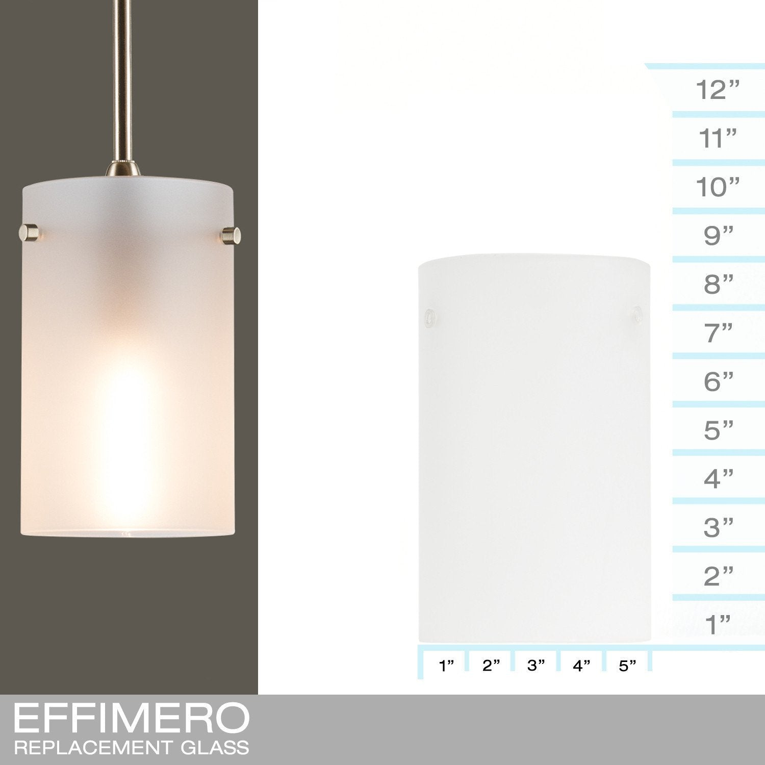 Effimero Medium Frosted - REPLACEMENT GLASS