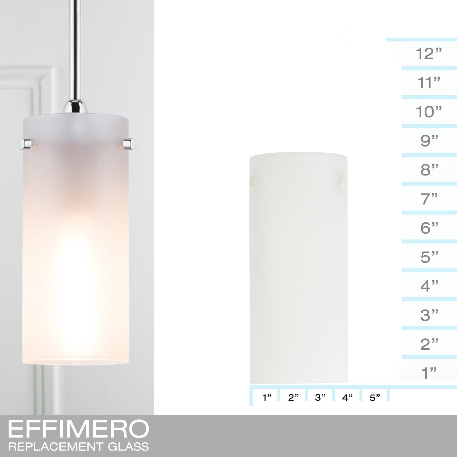 Effimero Small Frosted - REPLACEMENT GLASS