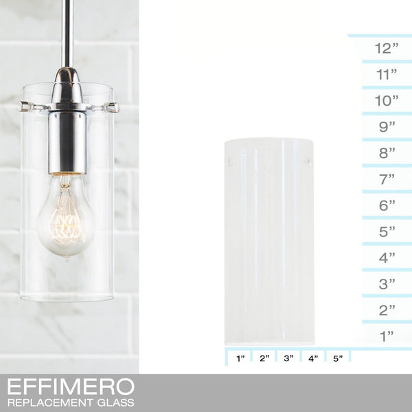 Effimero Small Clear - REPLACEMENT GLASS