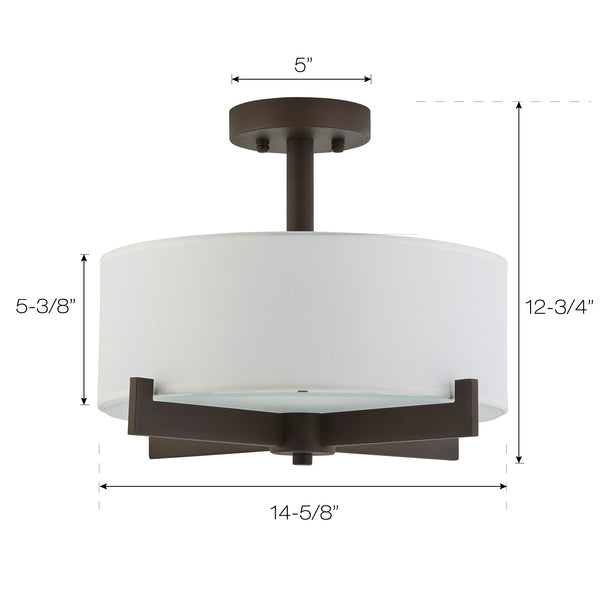 Allegro Semi Flush Mount Ceiling Light