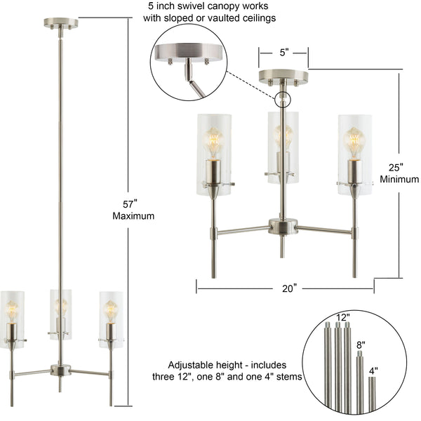 Effimero 3 Light Pendant Chandelier