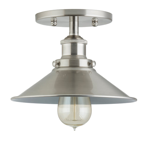 Andante Industrial Semi Flush Mount Ceiling Light