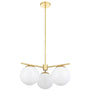 Caserti Mid Century Modern 3 Light Hanging Chandelier