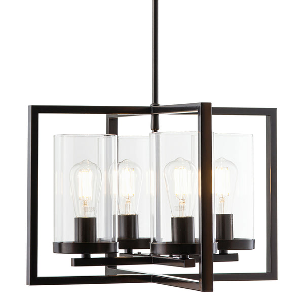 Verona 4 Light Contemporary Pendant, LED bulbs included
