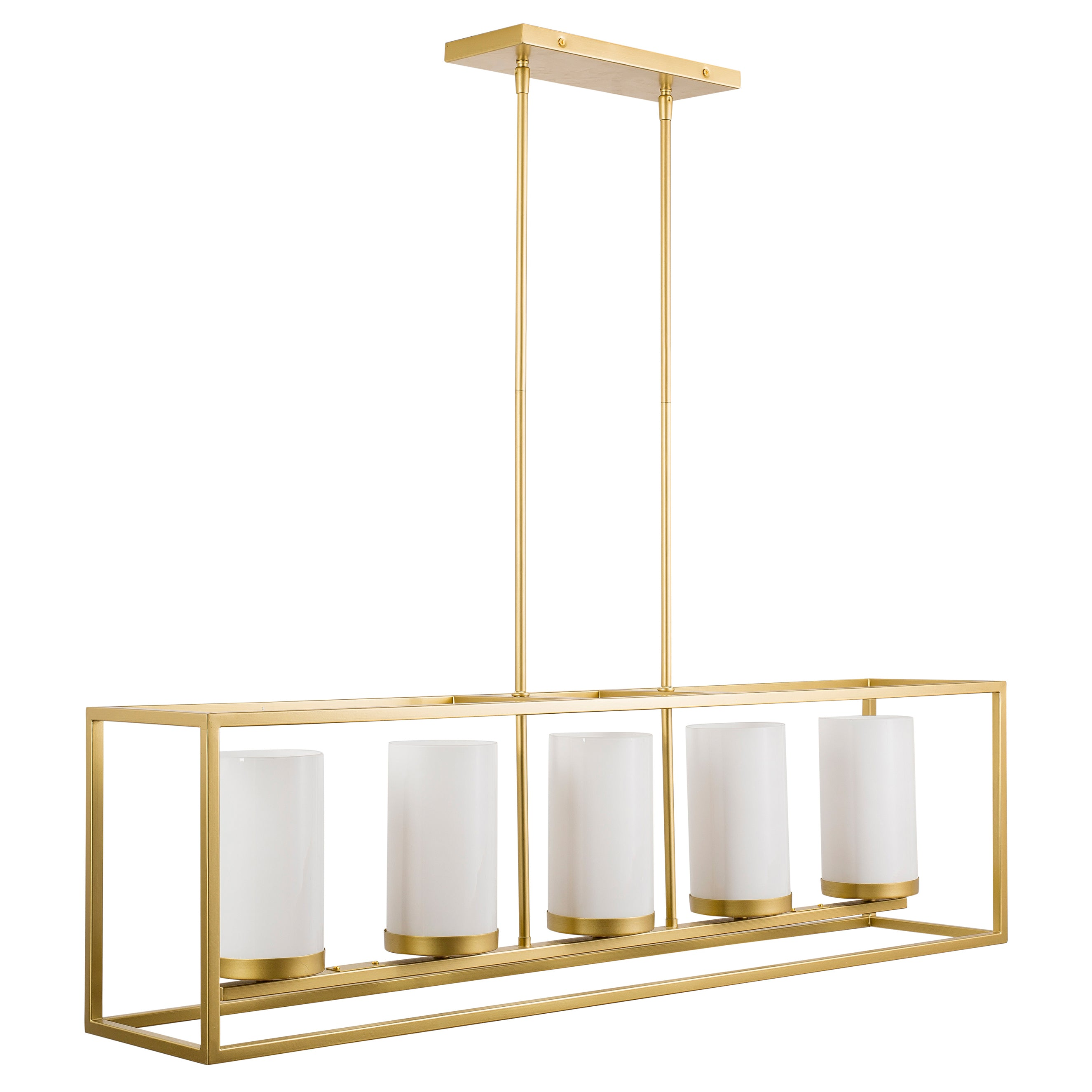 Verona 5 Light Box Chandelier Satin Brass Linea Lighting Modern And Affordable Residential Lighting