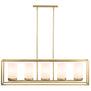 Verona 5 Light Box Pendant Chandelier - Satin Brass