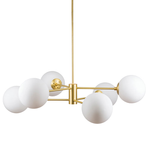 Caserti Modern Globe and Stem Chandelier