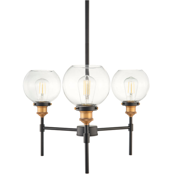 Primo 3 Light Industrial Hanging Chandelier