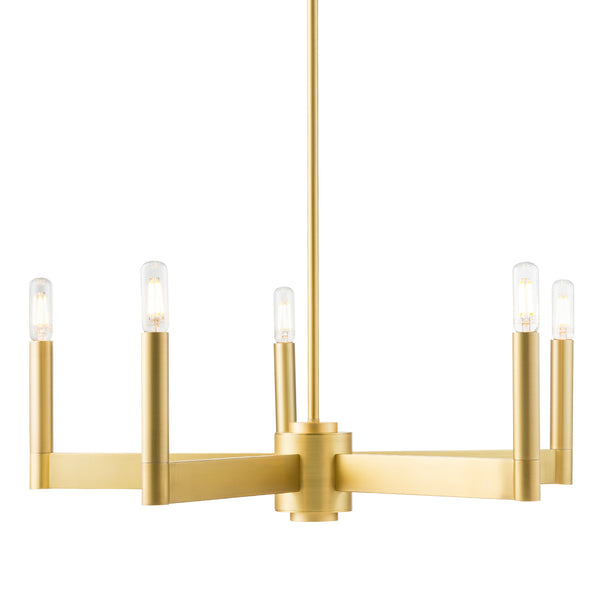 Trento Modern 5 Light Chandelier, LED Bulbs Included