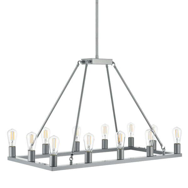 Sonoro Rectangular Chandelier, LED bulbs included