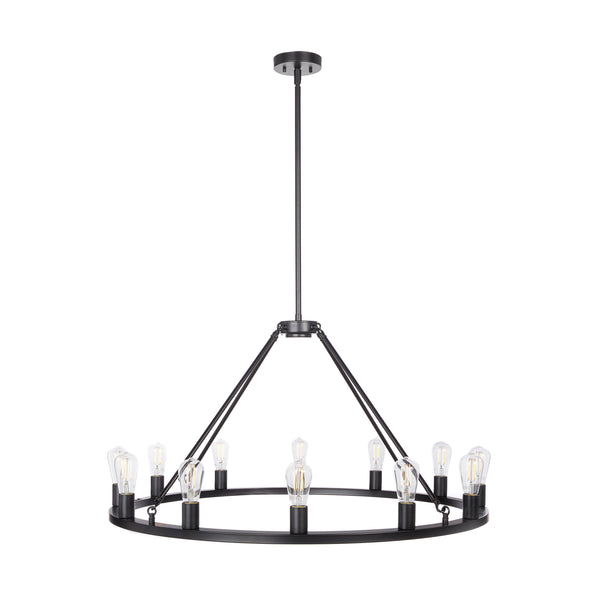 Sonoro Round 38 inch Chandelier, LED bulbs included