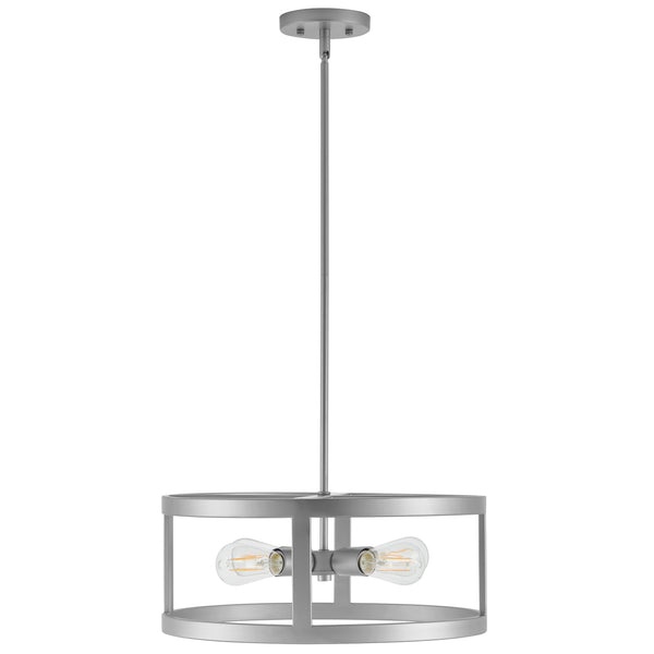Athenae 4 Light Exposed Semi Flush Mount Ceiling Light with LED Bulbs