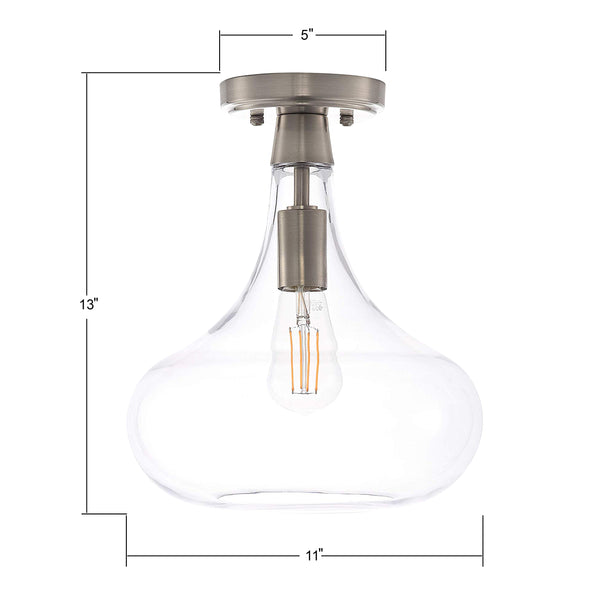 Dierna Semi Flush Mount Ceiling Light with LED Bulb