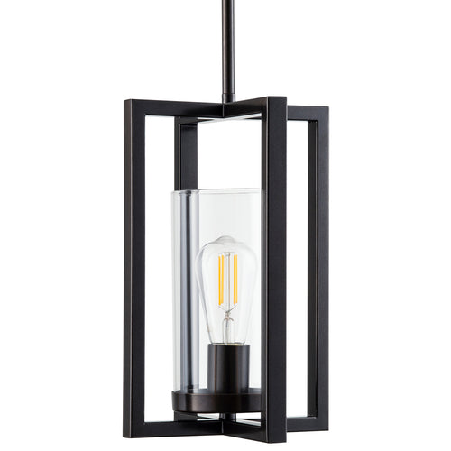 Verona Single Light Pendant - Dark Bronze - LED bulbs included