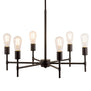 Bella 6 Light Chandelier, LED bulbs included