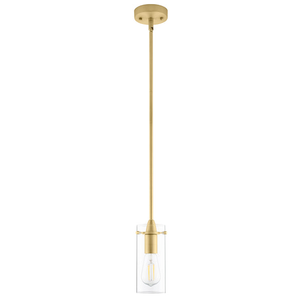 Effimero Small Pendant Light, Clear Glass