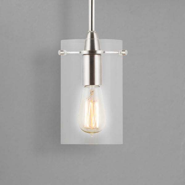 Effimero Medium Pendant Light, Clear Glass