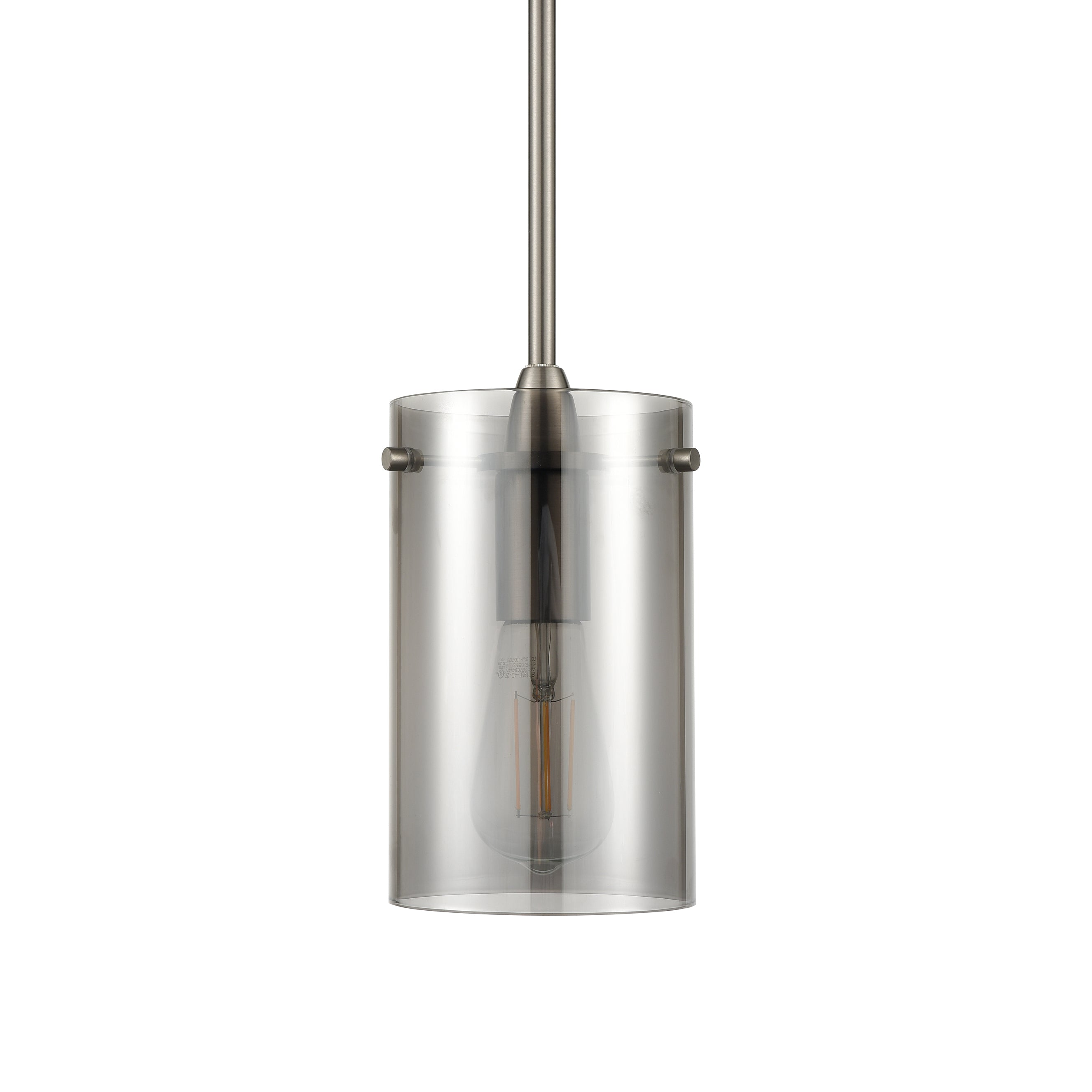 Effimero large with smoked Glass pendant lighting with no visible wiring, ideal for dining rooms and kitchens.
