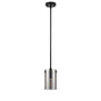 Effimero Medium Pendant Light, Polished Smoke Glass